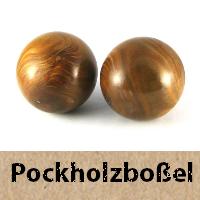Boßelkugeln Pockholz