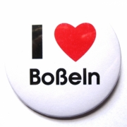 Button I love Boßeln (Herz)