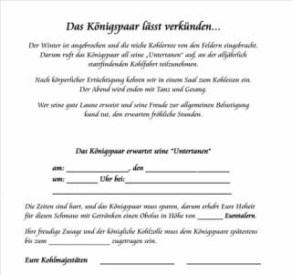 10x kohlfahrten - einladung klappkarte v4.2, 5,00 €, Einladung