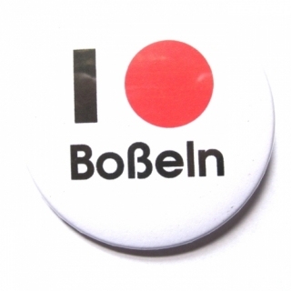 Button I love Boßeln (Kugel)