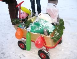 Boßelkugel Bollerwagen