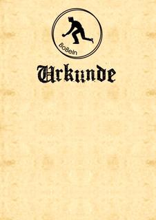 10x Boßel-Urkunde - Boßeln - Boßler - Urkunde v3.1