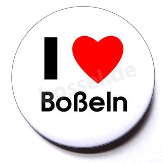 Button I love Boßeln (Herz)