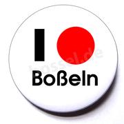 Button I love Boßeln (Kugel)
