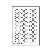 24 runde Etiketten für Medaillen (40mm)