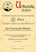 10x Boßel-Urkunde - Boßeln - Boßler -...