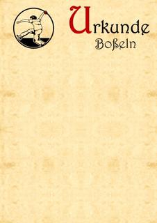 10x Boßel-Urkunde - Boßeln - Boßler - Urkunde v3.6
