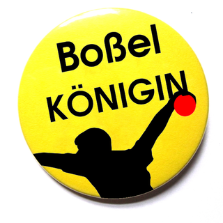 Button Boßelkönig Motiv 104