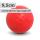 Boßelkugel für Kinder 9.5cm rot verminderte Sprungkraft