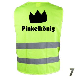 "Warnweste ""Pinkelkönig 7"""