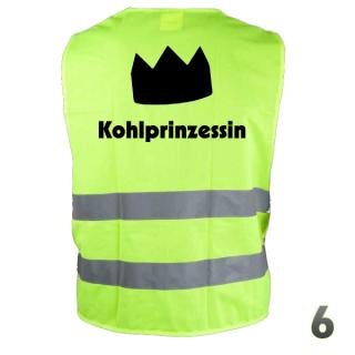 """Warnweste """"Kohlprinzessin 6"""""""