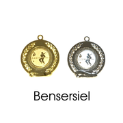 Medaille Bensersiel 50mm 9235 gold/silber (2 Medaillen)