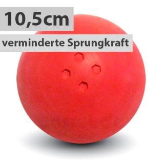 Boßelkugel 10,5cm rot verminderte Sprungkraft (Halle)