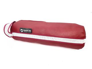 Boßeltasche aus Leder in rot