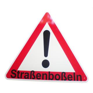 Warnschild Straßenboßeln 900mm