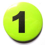 Button 59mm mit Zahlenreihe grün