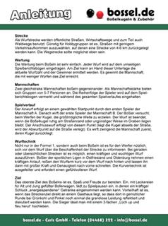 Anleitung / Spielplan