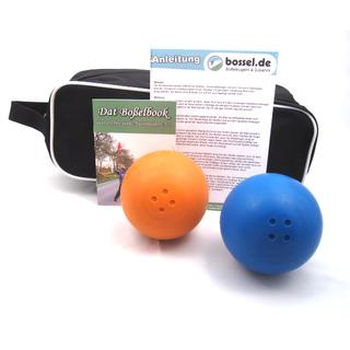 Gummiboßelset für Hobbyboßler (2 Boßelkugeln + Tasche)