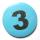 Button 59mm mit Zahlenreihe gelb