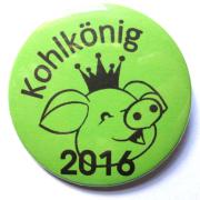 """Button Kohlkönig """"Schwein"""""""