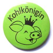 """Button Kohlkönigin """"Schwein"""""""